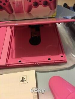 PlayStation 2 PS2 pink rose Pack état neuf starter pack rare full ps two