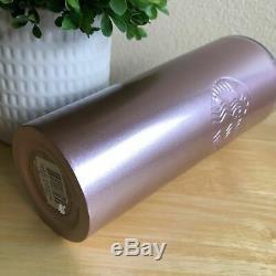 RARESTARBUCKS Rose Gold Pink Metallic Cold Cup Stainless Steel 24oz Tumbler