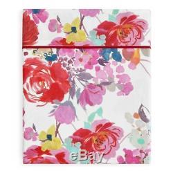 RARE $685 ANNE DE SOLENE FLORE QUEEN 5pc. SHEET SET SHAMS FLOWER PINK RED ROSE