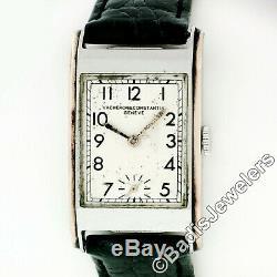 RARE Antique Mens Vacheron Constantin Steel & 14k Rose Gold 22mm 17j Wrist Watch