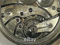 RARE Antique Omega 14K Solid Rose & White Gold Pocket Watch WORKING! WARRANTY
