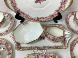 RARE! Antique Royal Doulton Old English Rose 16 Piece Tea/Dessert Set