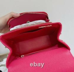 RARE CHANEL Small Rose Pink Business Affinity Flap Bag Quilted Caviar Gold HW