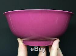 RARE Chinese Rose Pink ENAMEL'Yongzheng' Ruby Monochrome Porcelain Bowl Qing