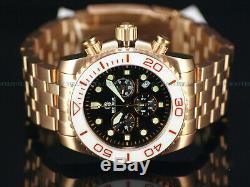RARE Deep Blue Sea Ram 500 # 0011 Swiss Chron0 Rose Gold SS Sapphire Diver Watch