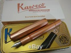 RARE Kaweco Rose Gold SPECIAL EDITION AL Aluminum Sport Fountain Pen F / M Nib