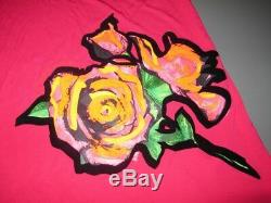 RARE Louis Vuitton & Stephen Sprouse Graffiti ROSES Jersey of Silk Dress BNWT