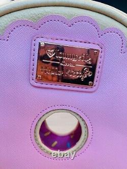 RARE Loungefly Loves Sanrio Hello Kitty Pink Rose Gold Donut Purse Crossbody Bag