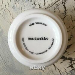 RARE! Marimekko Mug VIHKIRUUSU Oiva Coffee Cup 200ml Rose Pink SET F/Stracking