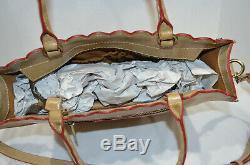 RARE NWT $249 Patrichia Nash SAND PRAIRIE ROSE EMBROIDERY Zancona Leather Tote