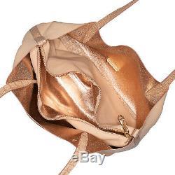 RARE NWT $325 NWT Brahmin Tote Dakota Ashland Poppy rose gold coral nude