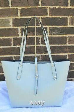 RARE NWT COACH 58849 Market Tote Bag Polished Pebble Leather Sky Blue Silver