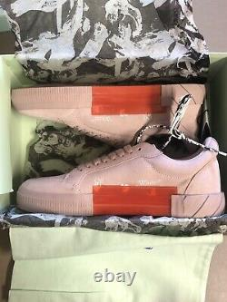 (RARE) Off White c/o Virgil Abloh Low Vulcanized Sneakers Rose Size 9.5