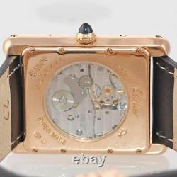 RARE PAPERS Cartier Louis Tank XL 3185 18k Rose Gold Power Reserve Brown Watch