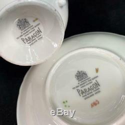 RARE Paragon England HUGE PINK CABBAGE ROSE Cup Saucer