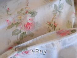 RARE Ralph Lauren Faye Meadow Way Full Queen Duvet pink roses cottage chic