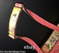 RARE Unused Vintage John Galliano Patent Ostrich Leather, Silk Lined Handbag