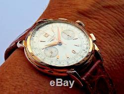 RARE Vintage Longines 30CH Chronograph watch 6332 18k rose gold