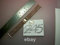 RARE Vtg KREISLER Quality USA NOS Deco Weave Rose Gold GF 19mm lug Watch BAND