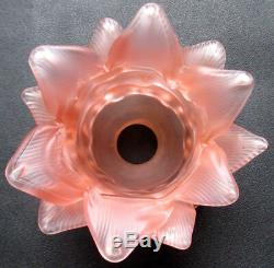 RARE french shade lamp Art Nouveau Flower ROSE18 pink petals