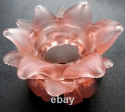 RARE french shade lamp Art Nouveau Flower ROSE18 pink petals 2/2