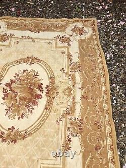 RARE large Laura Ashley Rose Print barouque rug 160cm x 235cm