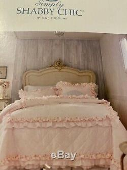 Rachel Ashwell Shabby Chic Pink Floral Petticoat Quilt King Rare And HTF