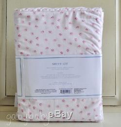 Rachel Ashwell Simply Shabby Chic Pink Rose Rosebuds FULL Sheet Set RARE Mon Ami