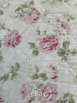 Rachel Ashwell Simply Shabby Chic Rare Full / Queen Reversible pink QUILT