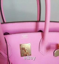 Rare 100% Authentic Pre-owned Hermes Birkin 30 Rose confetti with GHW