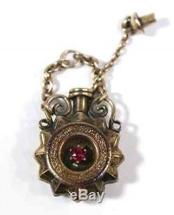 Rare 14kt Rose Gold Victorian Urn Pendant Pink Sapphire