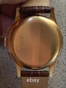 Rare 18K Rose Gold Antimagnetic Chronograph Watch, Chronographe Suisse