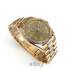 Rare 18Karat Rose Gold Rolex Day Date President 36MM Ref # 1803 Circa 1969 w Box
