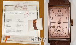 Rare 1942 Solid Rose Gold Patek Philippe & Tiffany & Co Men's Watch & Paperwork