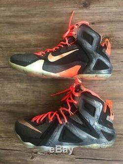 Rare 2015 Nike LeBron XII Elite 12 Series Black Rose Gold Shoes Sz 9 724559-091