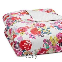Rare Anne De Solene Flore Kind Duvet Percale Pink Rose Wild Poppy Flower France