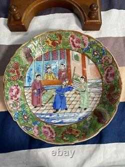 Rare Antique Chinese Famille Rose Medallion Plate