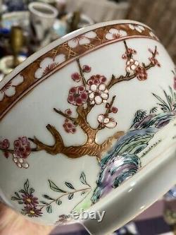 Rare Antique Chinese Yongzheng Famille Rose Bowl