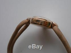 Rare CHAIKA-Poljot Solid Rose GOLD 14k 583 Laides Watch USSR Made 75s