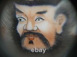 Rare Chinese Mythos Portrait Porcelain Famille Rose Plaque(Set of 4)