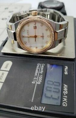Rare Concord Mariner Diamond Rose Gold MOP Watch Highest model. Stunning