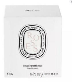 Rare Diptyque Roses Scented Candle 600g BNIB sealed Limited Edition Ceramic Jar