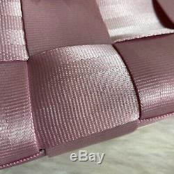 Rare Harveys Seatbelt Baguette Bag Purse with Long Handles light Pink rose