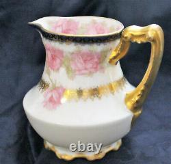 Rare Haviland #55 President Mckinley Creamer Exquisite! Drop Rose Gold Trim
