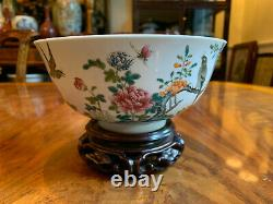 Rare & Important Chinese Qing Dynasty Famille Rose Bowl, Daoguang Mark & Period