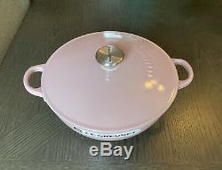 Rare, Le Creuset Antique Rose/pink Marinate Soup Pot, 3.5qt, Cast Iron, NIB
