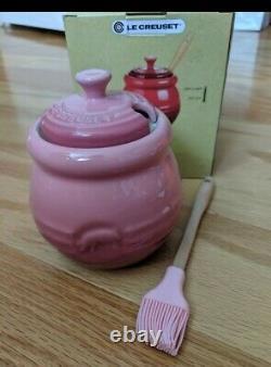 Rare Le Creuset Bbq Pot pig rose quartz pink 15 oz Stoneware NIB