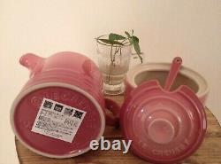 Rare! Le Creuset Creamer & Sugar Set Rose Quartz Pink Rare gradation