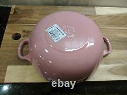 Rare Le Creuset Marmite soup pot 22 Cm rose pink black interior 2.75 qt NIB