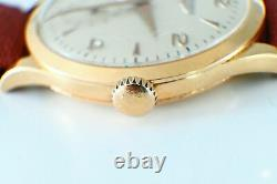 Rare Longines 18K 6055 Solid Rose Gold Cal 27.0 37.5 mm 1960's Manual Watch
